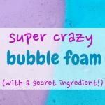 sensory play/sensory activities/toddler/kids/mom/bubble foam/parenting