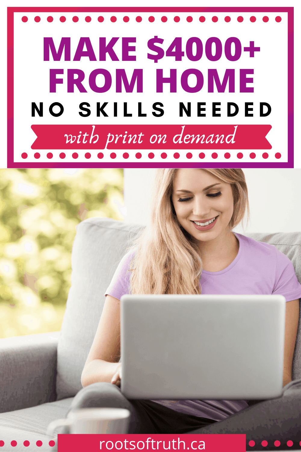 how to make money from home/jobs for stay at home moms/how to start a print on demand business