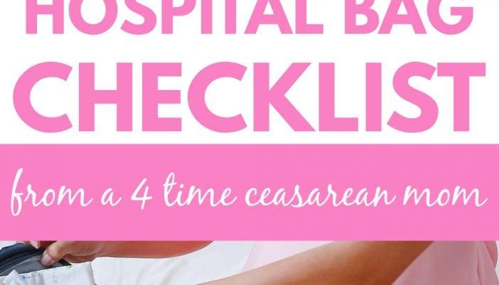 scheduled c section hospital bag checklist/what to pack for a c section hospital bag